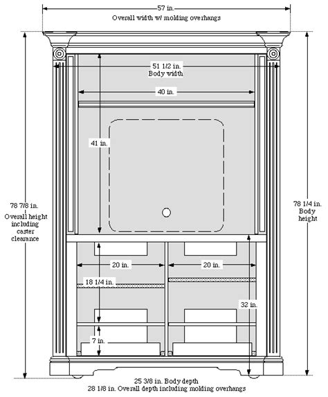armoire dimensions discounted tv armoire with pocket doors for tvs up to 42 quot
