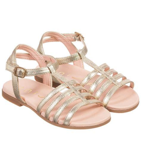 metallic gold sandals unisa gold metallic leather sandals childrensalon