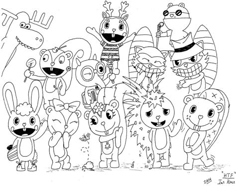 happy tree friends coloring pages coloring pages