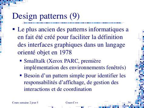 design definition en francais cours de c en fran 231 ais 2002 cours 2 5