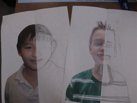 background drawing ideas math meets symmetry self portraits scholastic
