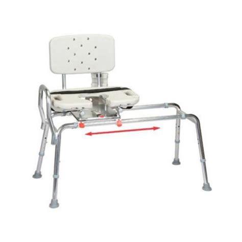 Shower Chair Swivel Seat snap n save sliding shower chair bath transfer bench w cut out swivel seat 37663 walmart