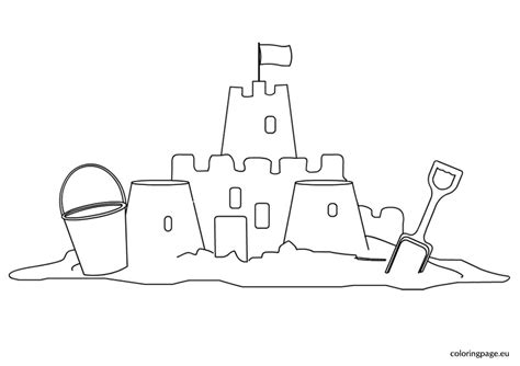 coloring page of sand castle sand castle coloring pages and print these for grig3 org