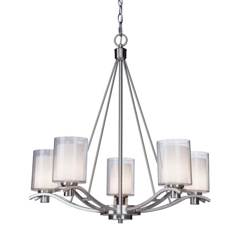 Shop Artcraft Lighting Andover 26 5 In 5 Light Polished Chandelier L Shades Lowes