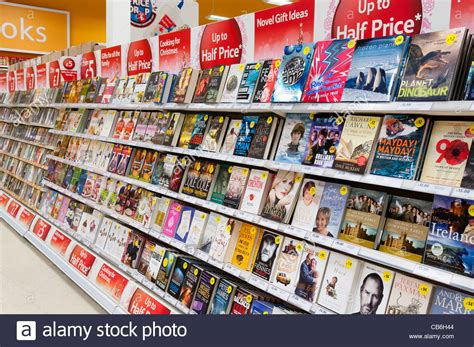 On A Shelf For Sale by Books For Sale On Shelves In A Tesco Store Stock Photo