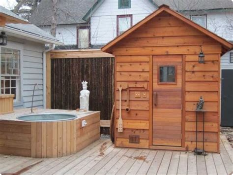 Outdoor Steam Room Kits - high sierra mountains sauna