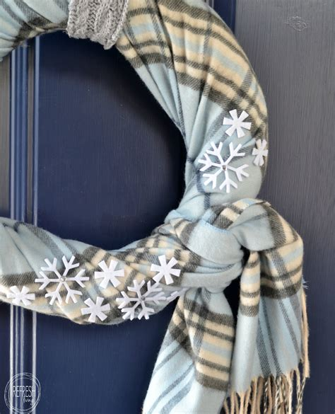 Diy Winter Wreaths For Front Door Cozy Winter Wreath With Thrift Store Finds Refresh Living