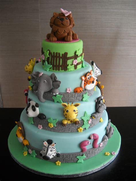 zoo themed birthday cake ideas animal cakes for kids birthday animal zoo cake