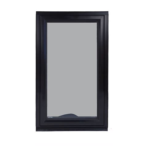 Glazed Awning Windows by Ecotech 1543 X 850mm Black Glazed Awning Window I N