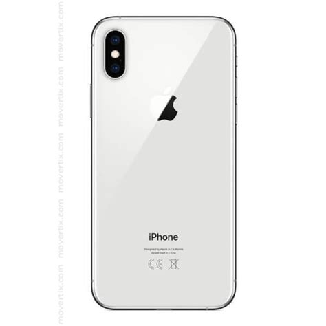 apple iphone xs silver gb  movertix