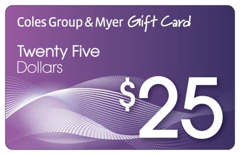 Coles Group Gift Card - 25 coles group myer gift card mwave com au