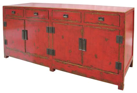asiatische sideboards asian wood sideboard with four drawers and four doors