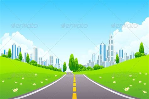 Wall Murals Cityscapes cartoon city road background 187 plesents com avery s b