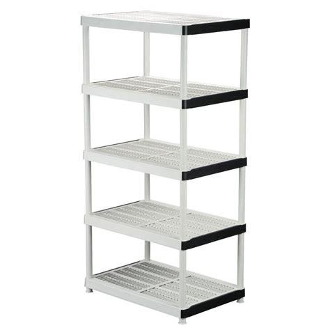 HDX 72 in. H x 36 in. W x 24 in. D 5 Shelf Plastic Ventilated Storage Shelving Unit 128974   The
