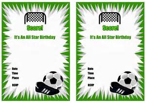 Soccer Invitation Template by Free Printable Soccer Birthday Invitations Home