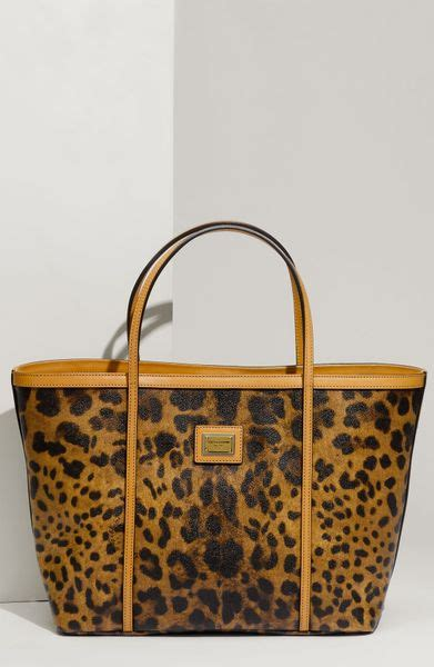 Dg Dolce And Gabbana Ocelot Print Tote by Dolce Gabbana Miss Escape Leopard Print Tote In Animal