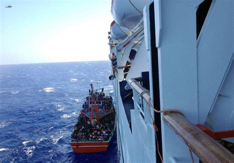 refugee boat cyprus after rescue by cruise ship cypriot police forces syrian