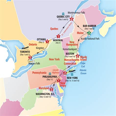 map of eastern usa and canada best of eastern canada and usa york road travel