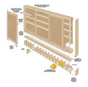 sliding door shop cabinet woodsmith plans