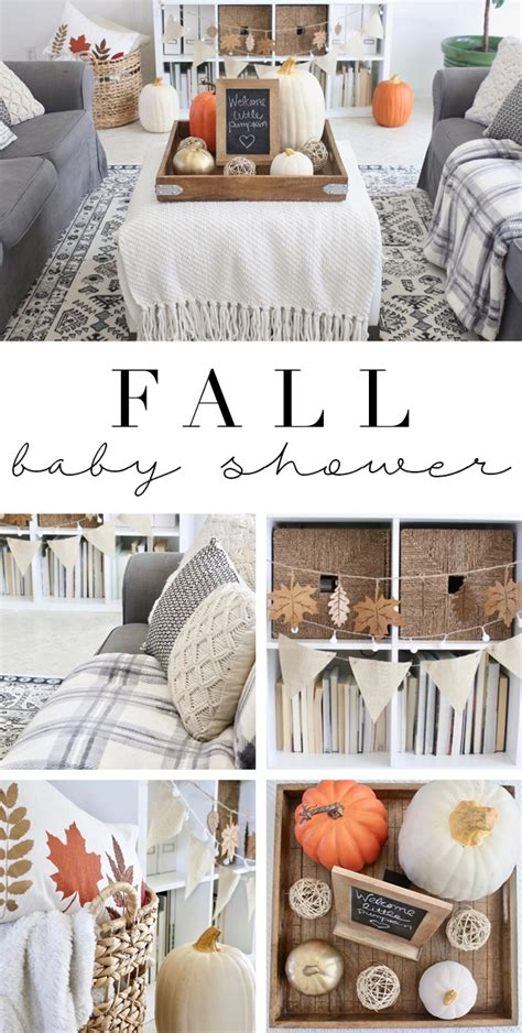 Ideas For Fall Baby Shower by Fall Baby Shower Decorations House Mix