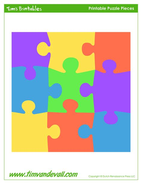 Puzzle Template 9 Pieces by Puzzle Template Tim S Printables