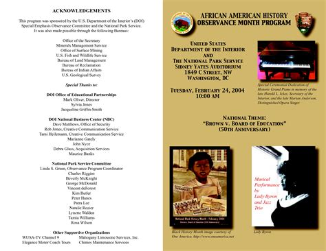 black history church program outline bing images