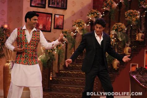 comedy nights with kapil on the sets the times of india kapil sharma with shahruk khan on the sets of comedy