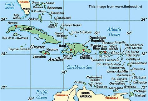 map of the caribbean islands images and places pictures and info us islands map