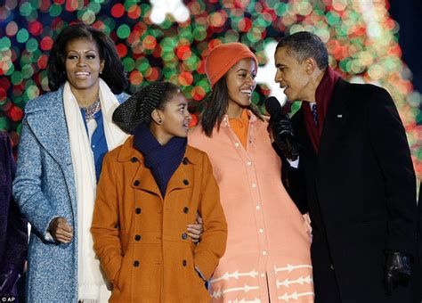 obama family 2012 obama family lights national tree in festive ceremony in washington