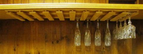 under cabinet wine rack wood 40 wine glass stemware wood holder 11 quot deep under