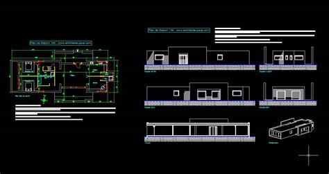 plan maison format dwg gratuit t 233 l 233 charger plan maison moderne 144 fichier autocad