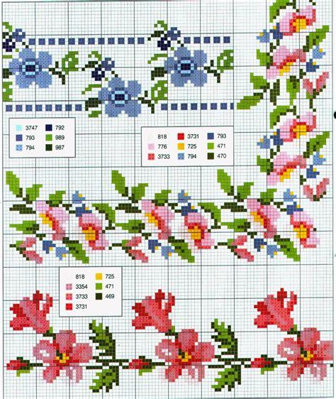 schemi di fiori a punto croce grande raccolta di schemi e grafici per punto croce free
