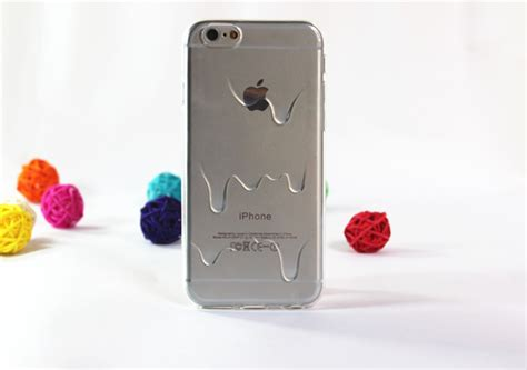 Icecream For Iphone 6 melting plastic tpu clear transparent phone for iphone 6 4 7inch 1pc back cover