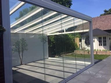 veranda glaswand glaswand aluxe al22 4420mm breed hoogte 2020mm