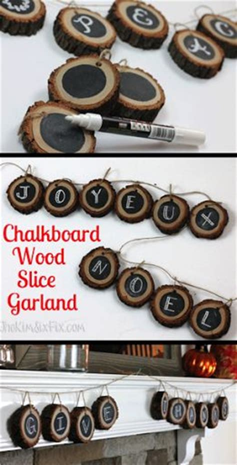 chalkboard paint wood slices wood slices chalkboards and tree branches on