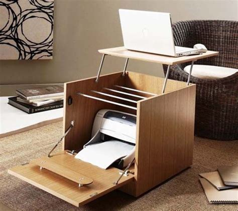 Desk For Computer And Printer Folding Computer Printer Desk Clever Furniture