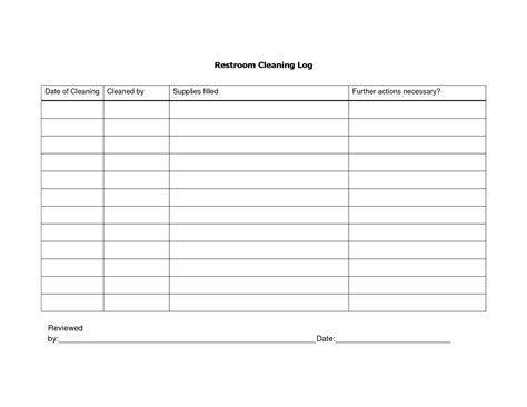 bathroom chart 8 best images of restroom cleaning schedule printable