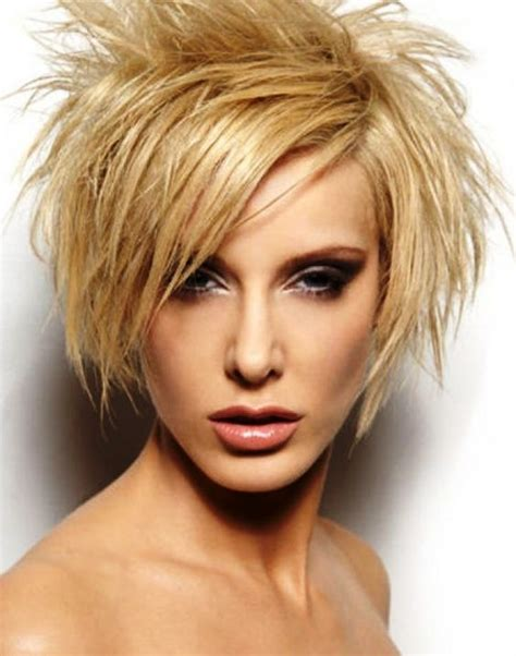 spikey choppy bob short spiky hairstyles with bangs for me pinterest