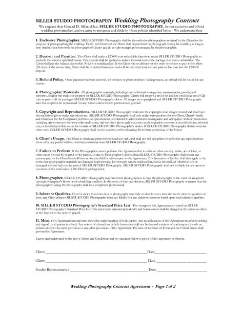 sample photography contract 8 examples in pdf word