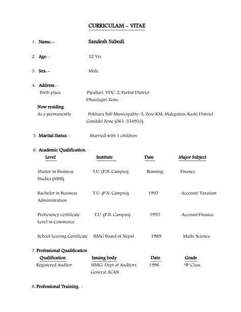 Curriculum Vitae Biodata Sle by Lujoso Muestra De Biodata Cv Ilustraci 243 N Ejemplo De