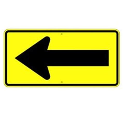 st on left or right large right or left arrow traffic sign