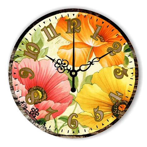 beautiful wall clock online buy wholesale flower wall clock from china flower