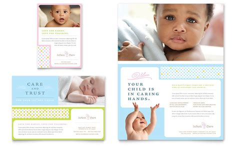 Infant Care Babysitting Flyer Ad Template Word Publisher Babysitting Brochure Template