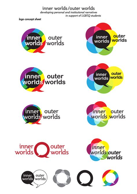 icon design conference inner worlds outer worlds conference logo design sketches