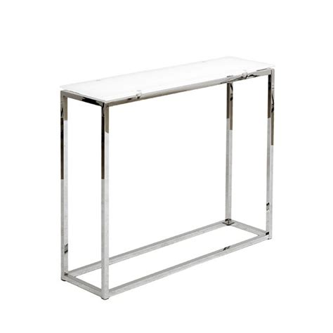 glass and chrome sofa chrome glass console table modern furniture brickell