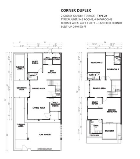 saujana residency floor plan review for tree residency sungai ara propsocial house plan corner duplex type 24 saujana floor