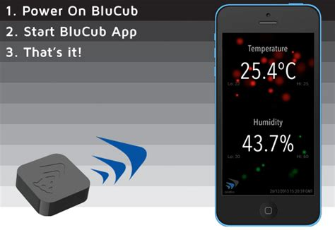 iphone app to check room temperature blucub humidity sensor wireless thermometer for iphone iphoneness