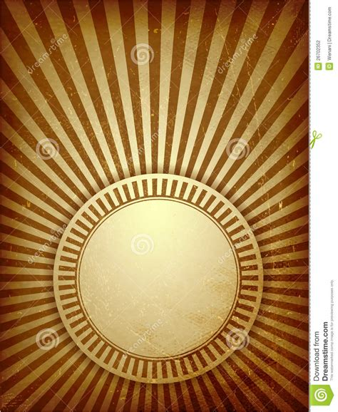 brown grunge light rays background stock vector image