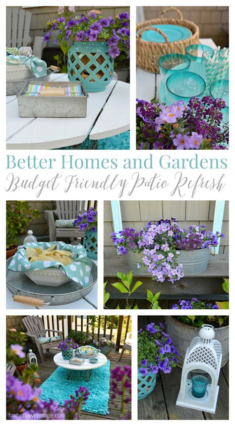 better homes and gardens decorating ideas budget friendly patio refresh plus a giveaway