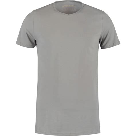 T Shirt grey basic v neck t shirt by shirtsofcotton